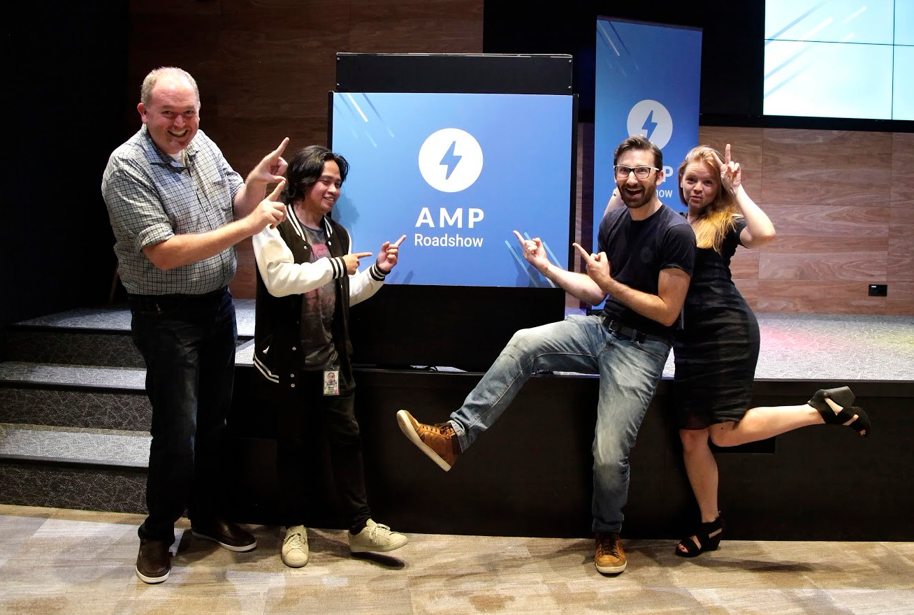 AMP team members excited about the AMP Roadshow Singapore